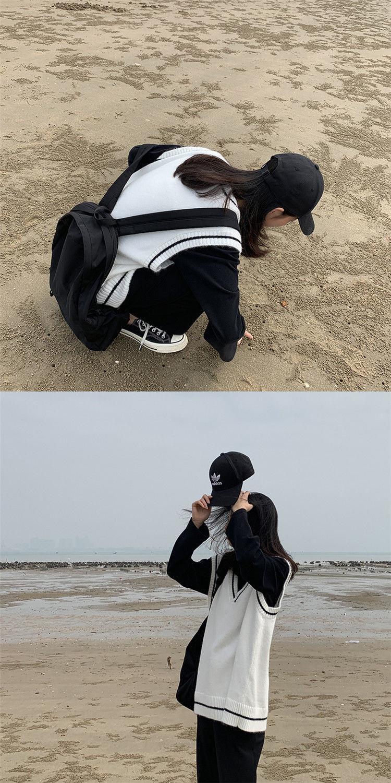 Harajuku Grunge E-girl  V-neck Knitted Vest 44