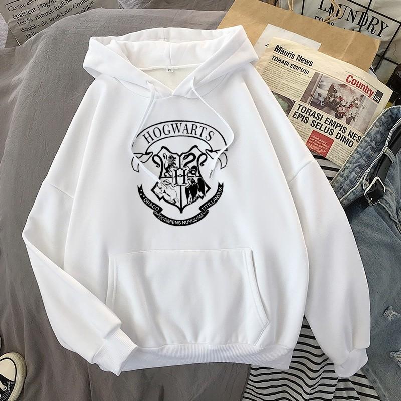 E-girl E-boy Harajuku Fan Hoodie with coat of arms of Hogwarts 36