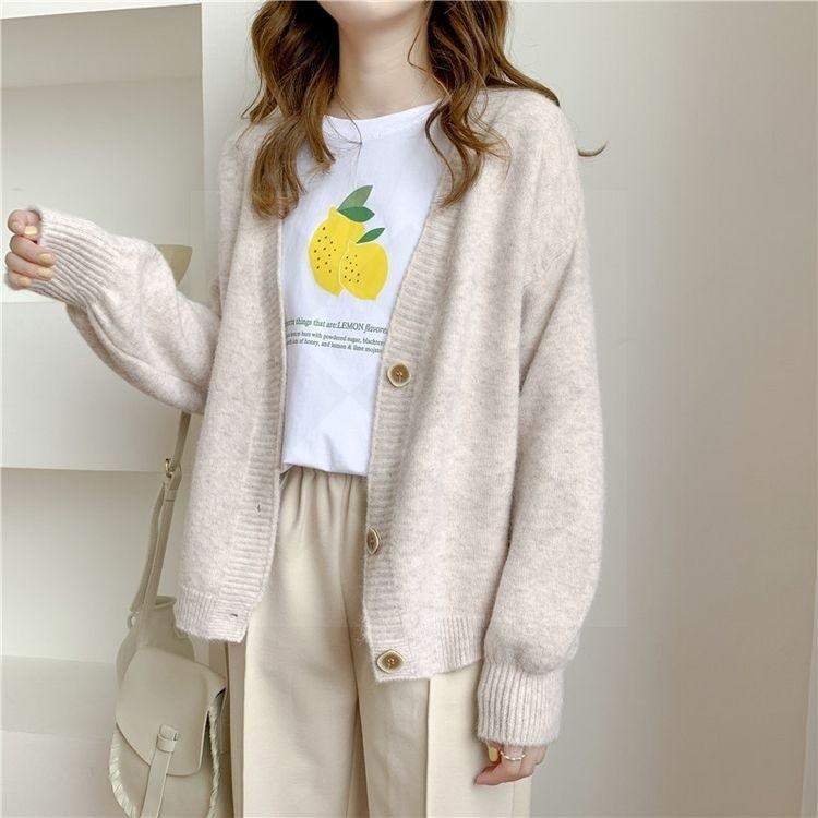 Harajuku E-girl Soft girl Kawaii Cardigan Solid Cashmere 43