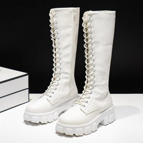 E-girl Gothic Punk Knee-high Pu Boots 2