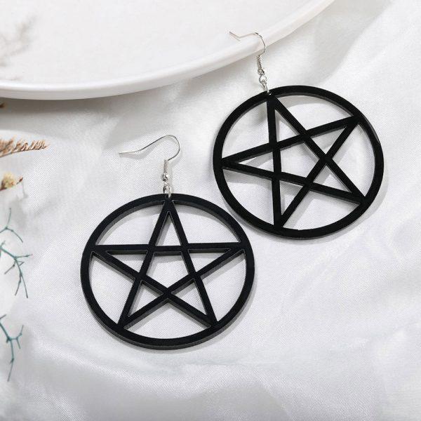 Egirl Eboy Gothic Punk Acrylic Large Star Earrings 5