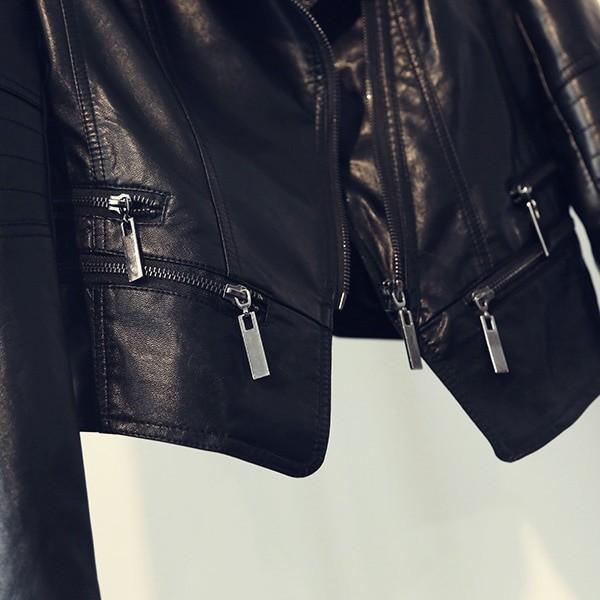 Punk Egirl Motorcycle PU Leather Jacket 46