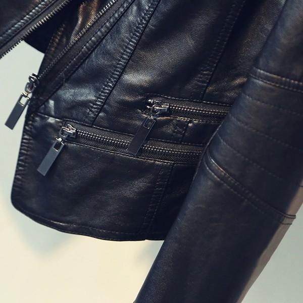 Punk Egirl Motorcycle PU Leather Jacket 48