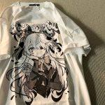 Harajuku E-girl Aesthetic T-Shirt with Anime Gothic cartoon print 1
