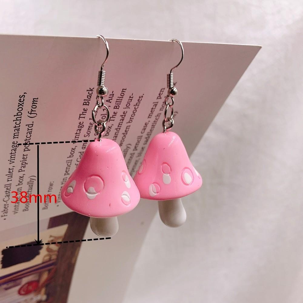 E-girl Y2K Indie Kid Acrylic Mushroom Long Pendant Earrings 53
