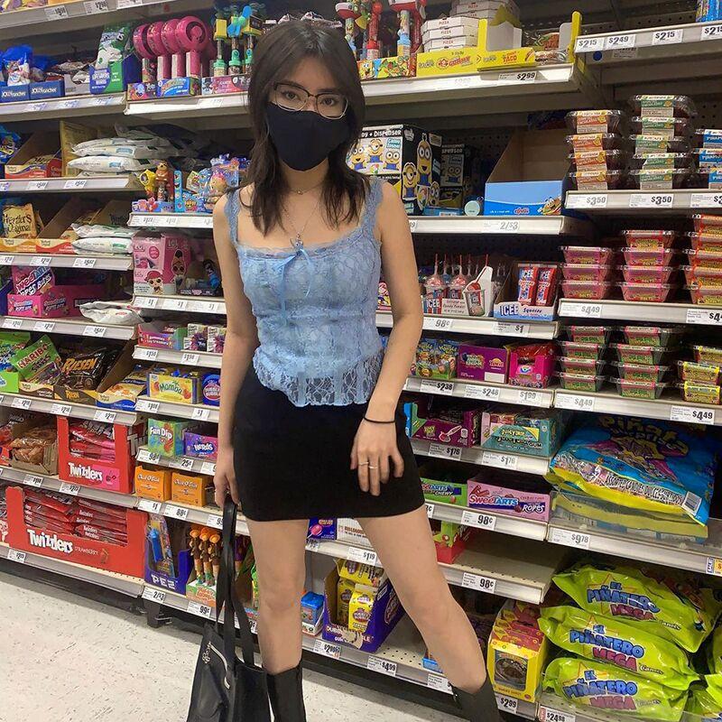 E-girl Soft girl Y2K Retro Bow Lace Top 46