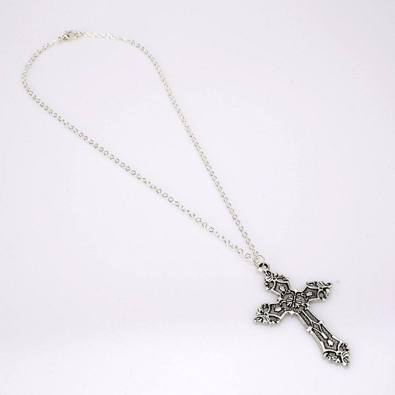 E-girl E-boy Gothic Punk Vintage Cross Pendant Necklace 41