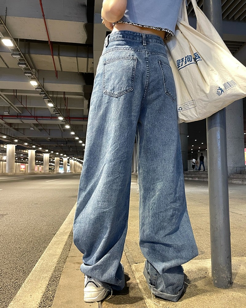 Harajuku Y2K Loose Ripped jeans with high waist 47