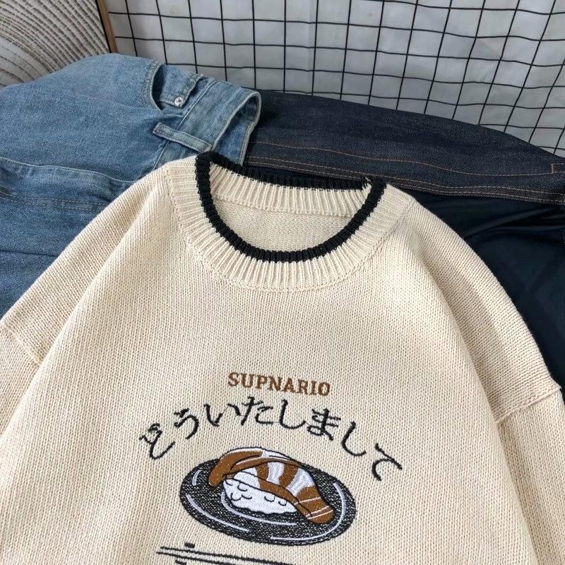 Harajuku E-boy E-girl Knitted Sweater with sushi embroidery 53