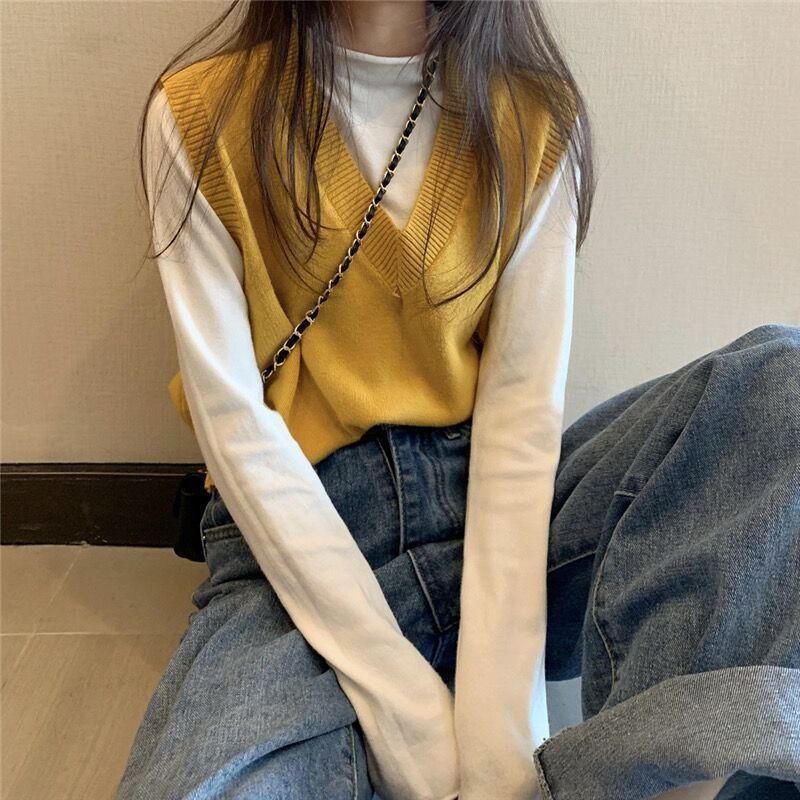 Soft Girl E-girl Harajuku Knitted V-Neck Sleeveless Vest 44