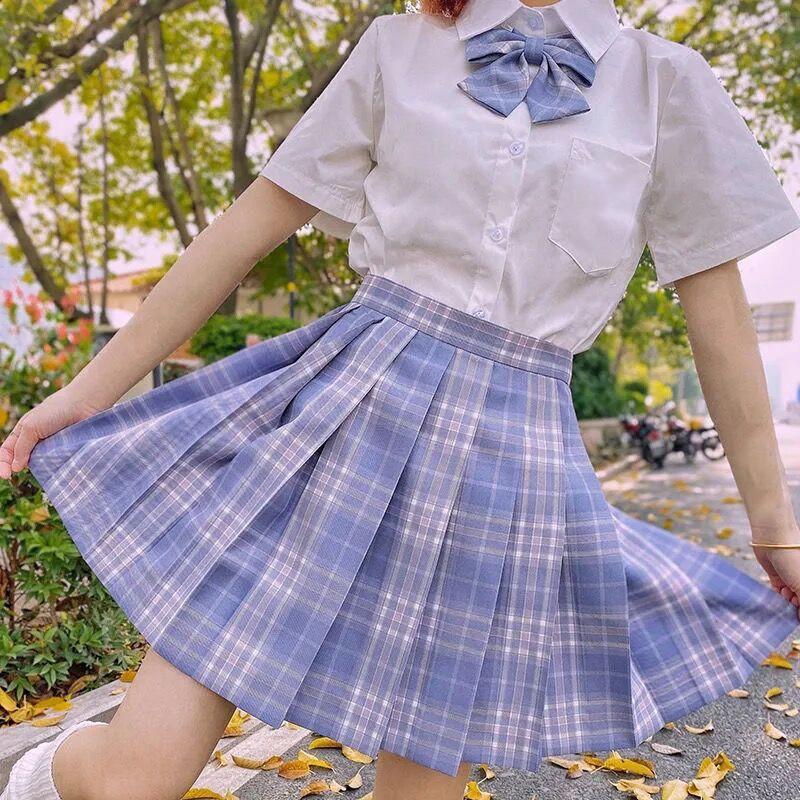 Harajuku E-girl Soft girl Pleated A-Line Plaid Skirts 65
