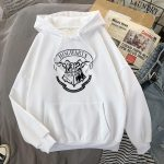E-girl E-boy Harajuku Fan Hoodie with coat of arms of Hogwarts 5