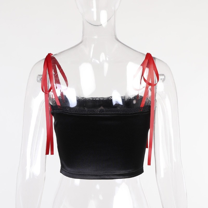 E-girl Gothic Crop Top with cross 43