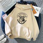 E-girl E-boy Harajuku Fan Hoodie with coat of arms of Hogwarts 4