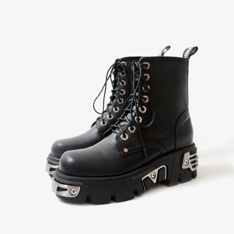 Egirl Punk Style Platform Chunky Shoes with Metal Decor 52