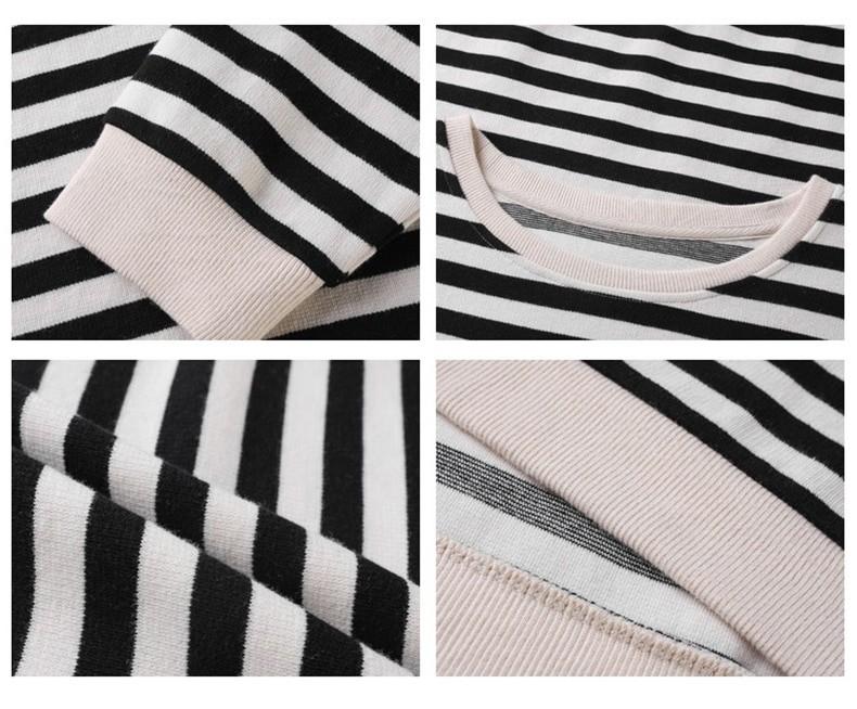 Harajuku E-girl Grunge striped cotton Sweatshirt 55
