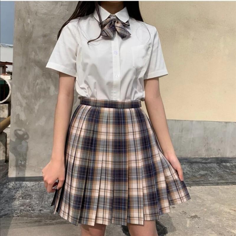 Harajuku E-girl Soft girl Pleated A-Line Plaid Skirts 57