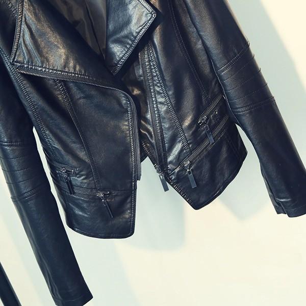 Punk Egirl Motorcycle PU Leather Jacket 3