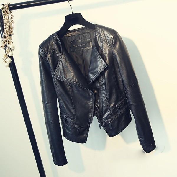 Punk Egirl Motorcycle PU Leather Jacket 41