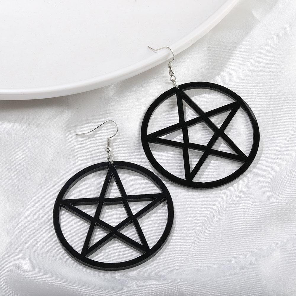 Egirl Eboy Gothic Punk Acrylic Large Star Earrings 44