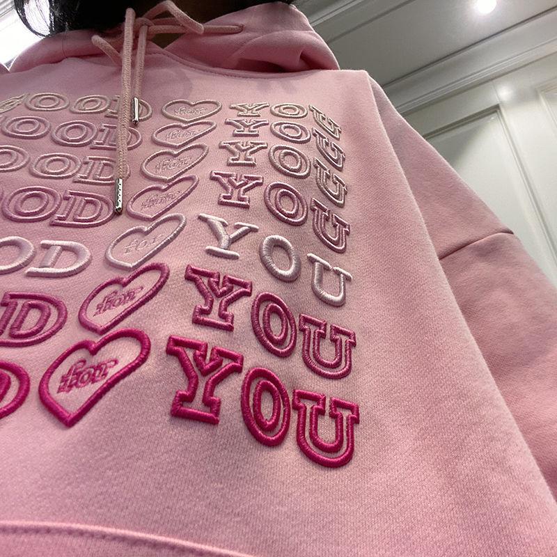 E-girl Soft girl oversized Harajuku hoodie with Good for You embroidery 41