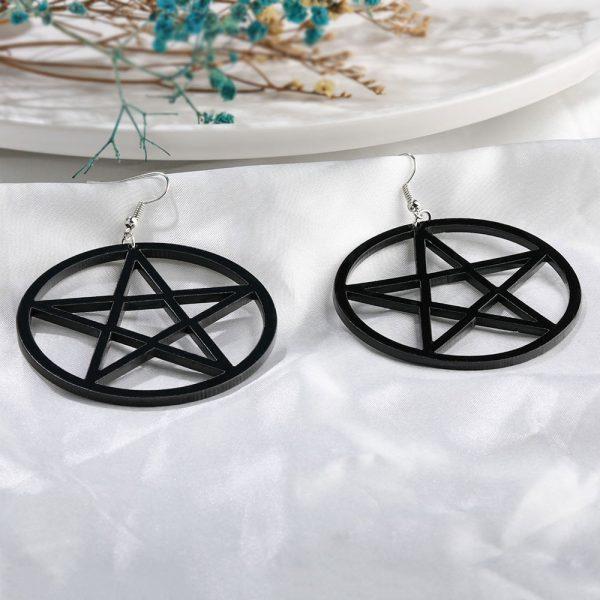 Egirl Eboy Gothic Punk Acrylic Large Star Earrings 4