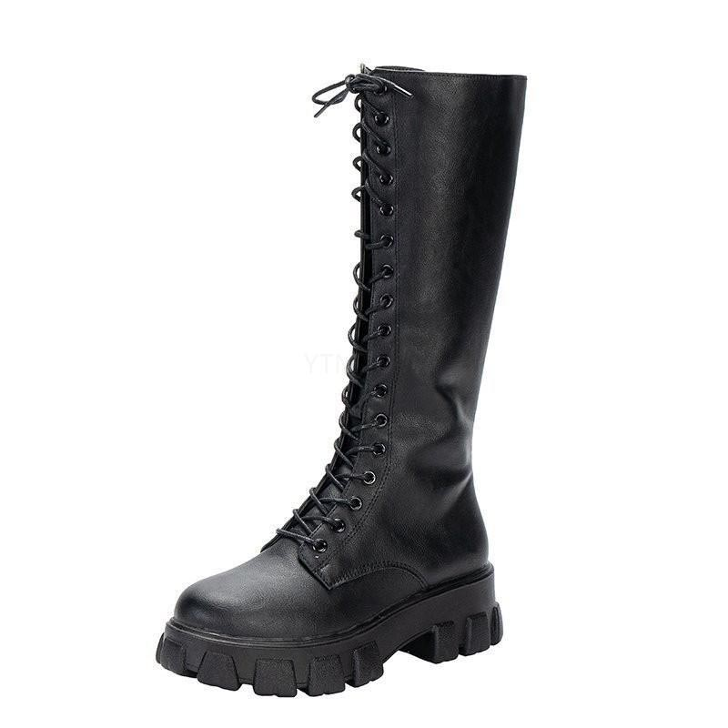 E-girl Gothic Punk Knee-high Pu Boots 50
