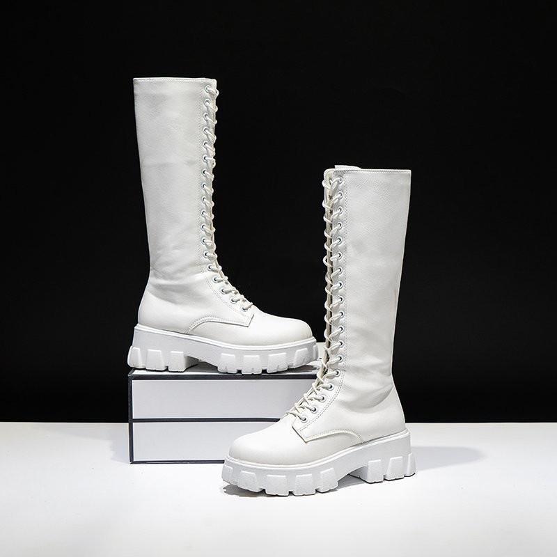 E-girl Gothic Punk Knee-high Pu Boots 41