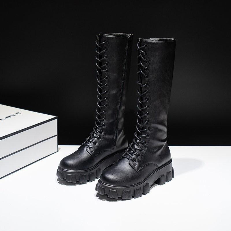 E-girl Gothic Punk Knee-high Pu Boots 42