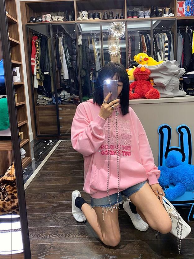 E-girl Soft girl oversized Harajuku hoodie with Good for You embroidery 42
