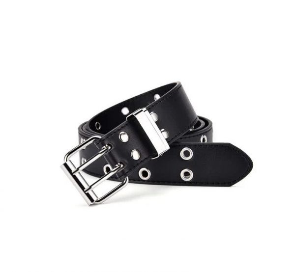 E-girl E-boy Gothic Pink Leather Belt with chain 72