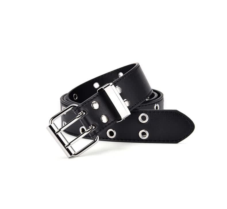 E-girl E-boy Gothic Pink Leather Belt with chain 45