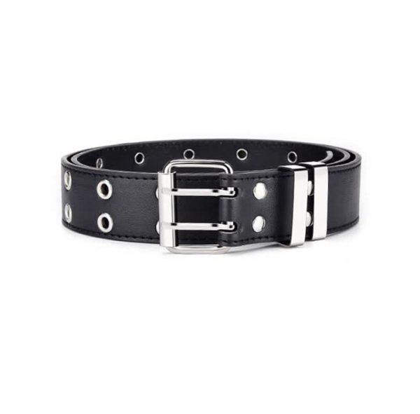 E-girl E-boy Gothic Pink Leather Belt with chain 75