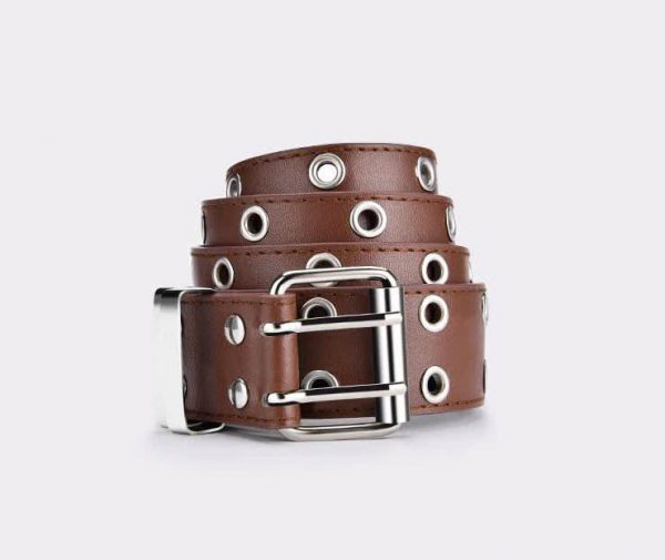 E-girl E-boy Gothic Pink Leather Belt with chain 71