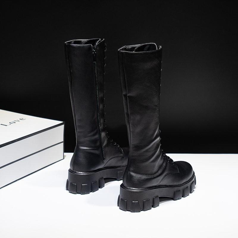 E-girl Gothic Punk Knee-high Pu Boots 44