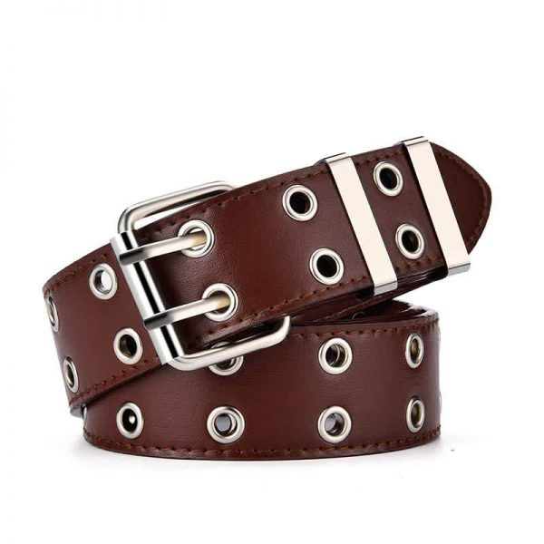 E-girl E-boy Gothic Pink Leather Belt with chain 68