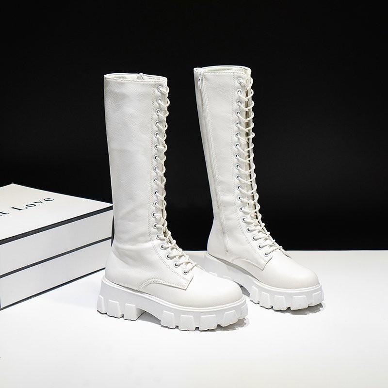 E-girl Gothic Punk Knee-high Pu Boots 45