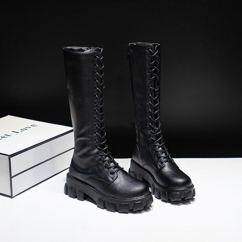 E-girl Gothic Punk Knee-high Pu Boots 46