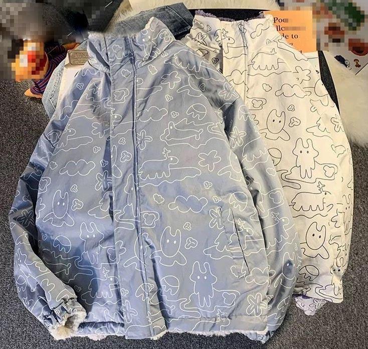 Harajuku E-girl Double Sided Winter Lambswool Imitation Jacket 49