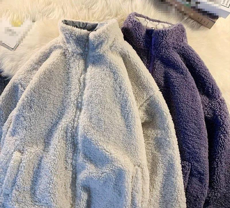 Harajuku E-girl Double Sided Winter Lambswool Imitation Jacket 50