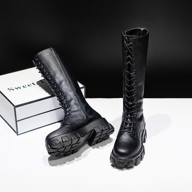 E-girl Gothic Punk Knee-high Pu Boots 47