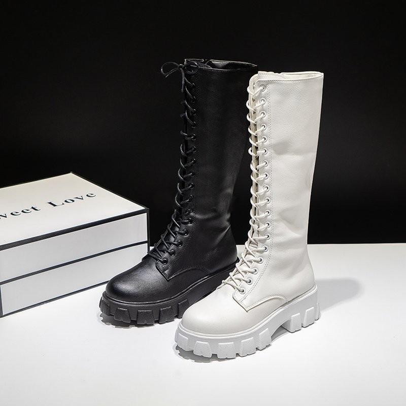 E-girl Gothic Punk Knee-high Pu Boots 48