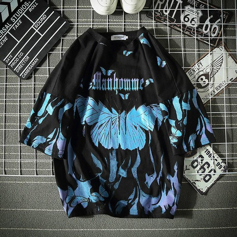 E-boy E-girl Harajuku Punk Butterfly T-Shirt 51