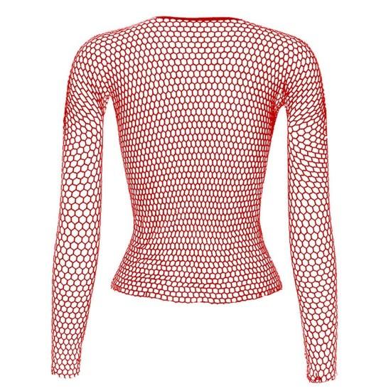 Punk E-girl Gothic Fishnet Bodystocking Long Sleeve Underwear 44