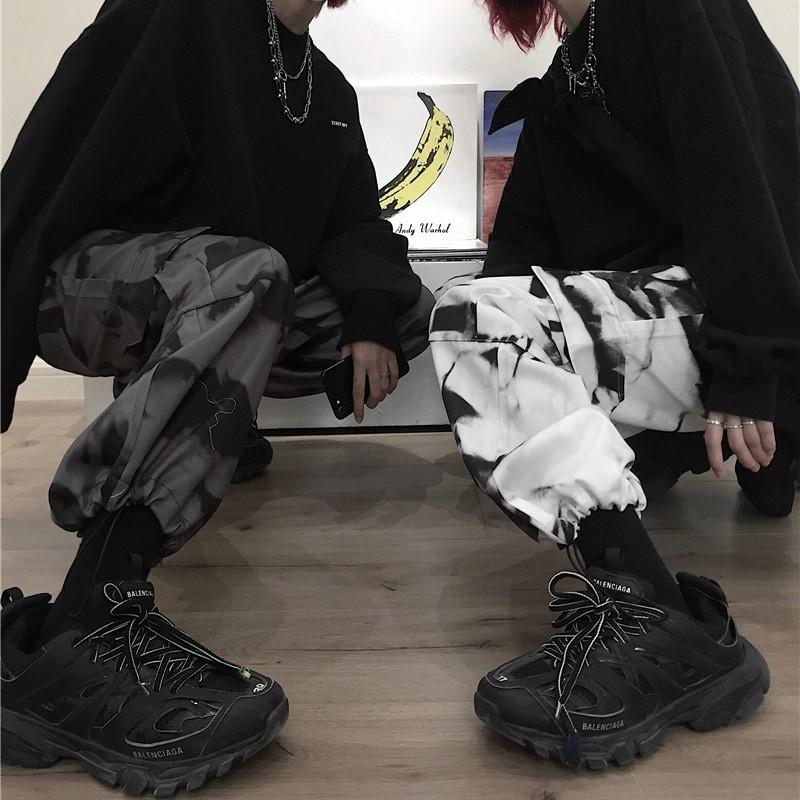 E-girl E-boy Punk Harajuku Cargo Pants Tie Dye 42