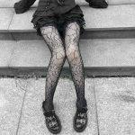 E-girl Pastel Gothic Punk Spiderweb Tights 3