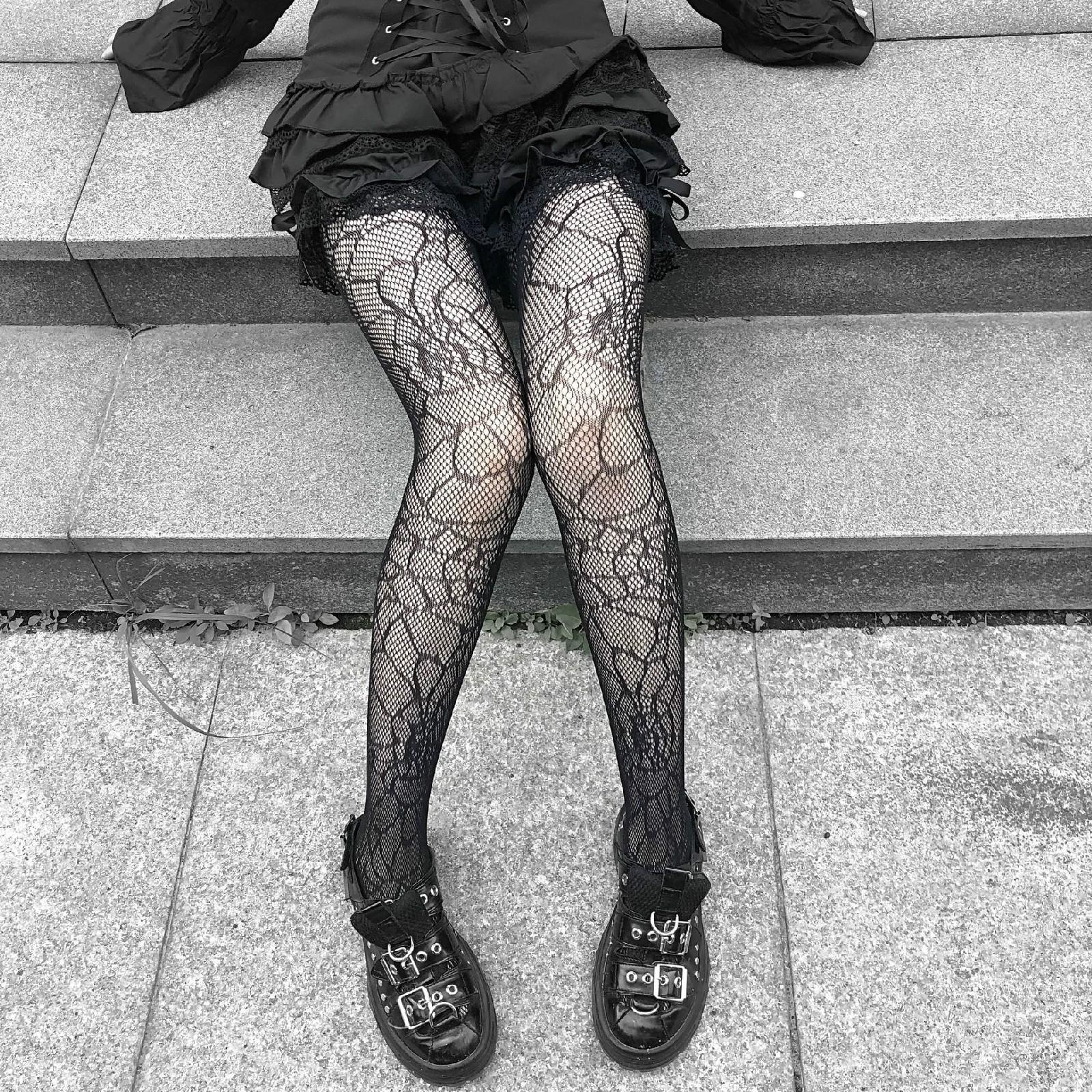 E-girl Pastel Gothic Punk Spiderweb Tights 43