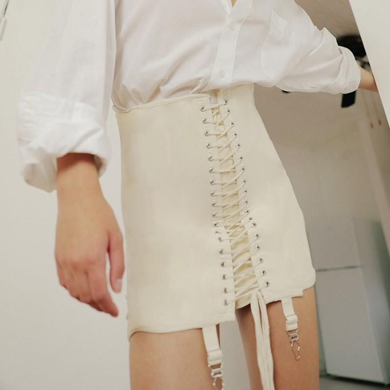 Pastel Gothic E-girl Punk Y2K Mini Lace Up Aesthetic Skirts 45