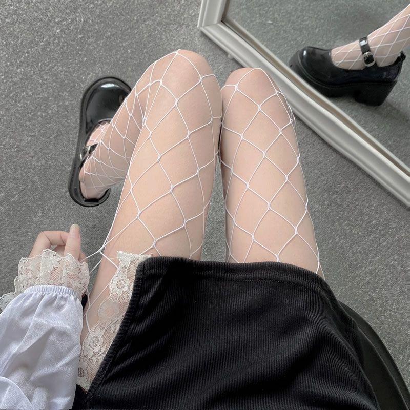 E-girl Pastel Gothic Punk Fishnet Stockings 46
