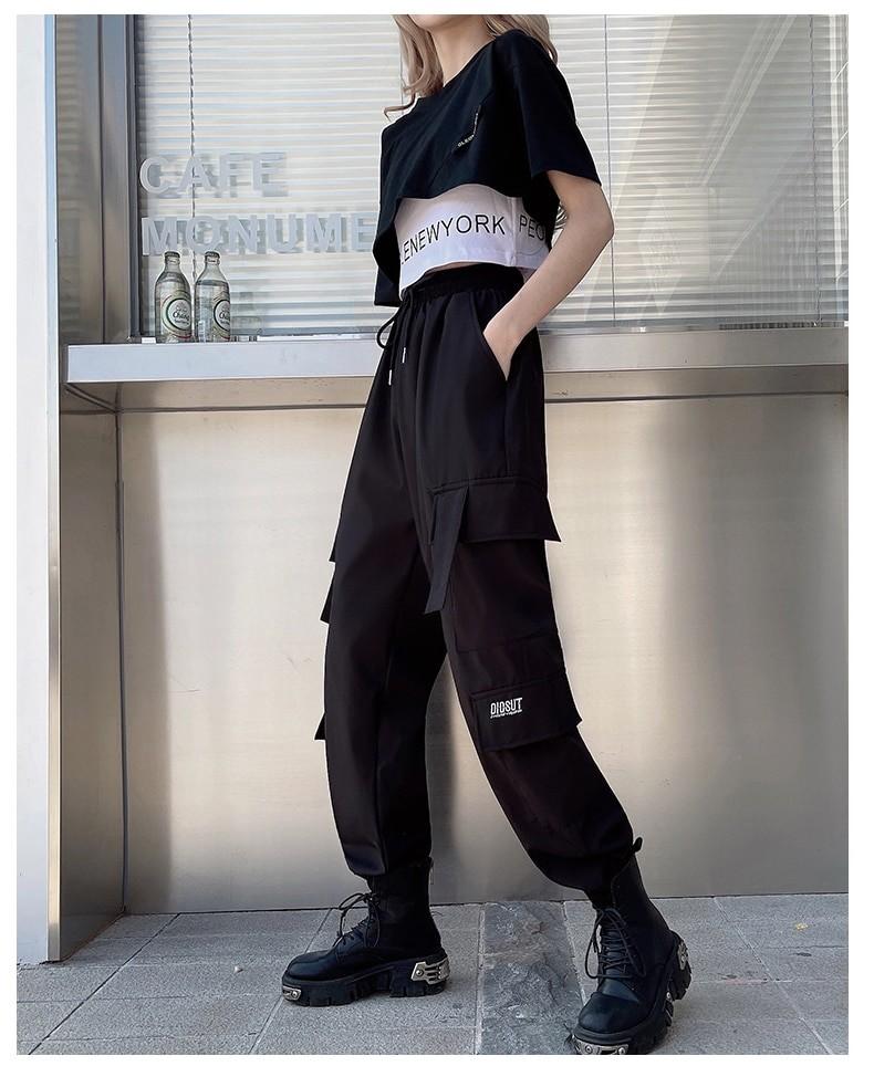 Harajuku E-girl Set Cargo Pants Sweatshirt Tank Top 45